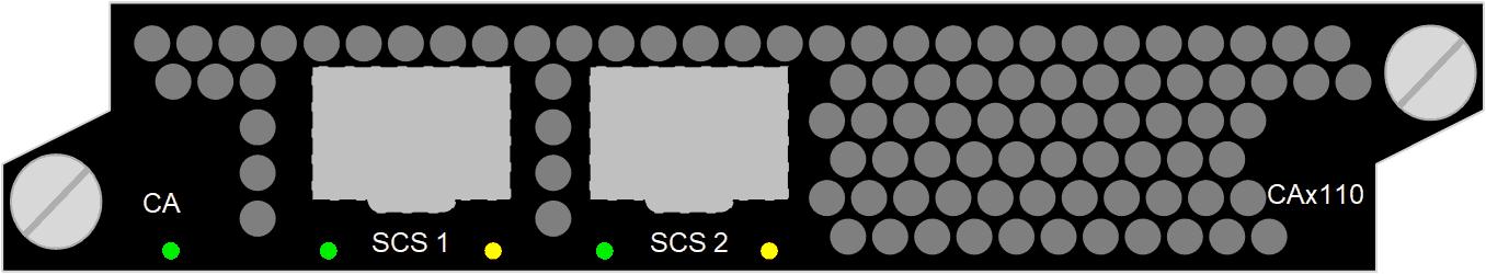 Scrambler CAx110, DVB simulcrypt, 2000 services/6 Gbit/s, DVB-CSA v1 (48-bit), DVB-CSA v2 (64-bit), AES (128-bit)