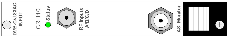 DVB-C 4x QAM Input, EN 300 428, ITU-T J83 Annex A/C