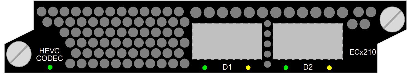 AVC HEVC Encoder Transcoder Decoder ECx210, SD, HD, FHD, UHD, 8 bit / 10 bit, 4:2:0 / 4:2:2, Standard delay / Low delay / Ultra low delay
