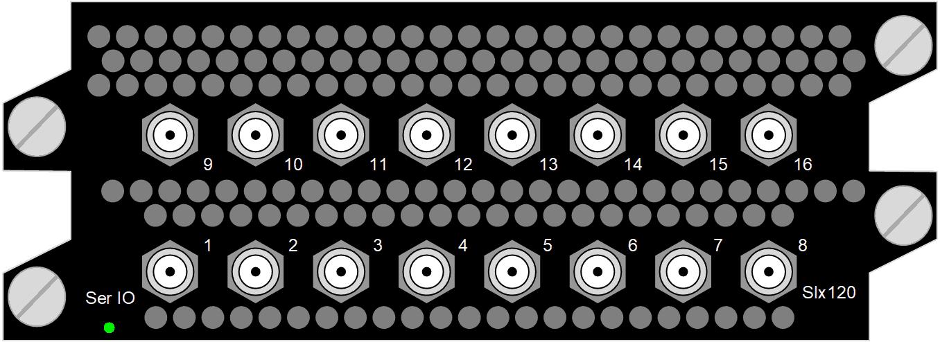 12G SDI/ASI IO, 16x HD BNC 75 Ohm, 12G-SDI (SMPTE ST-2082), 3G-SDI (SMPTE 424M), HD-SDI (SMPTE 292M), SD-SDI (SMPTE 259M), SDI or ASI configurable, Input or output, TICO, JPEG2000