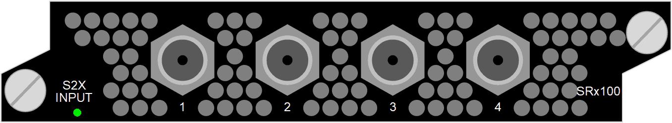 4x F, 75 Ohm, DVB-S/S2X Input SRx100, 32 demodulators, DVB-S, DVB-S2, DVB-S2X, QPSK, 8PSK, 16APSK, 32APSK, 64 APSK, 128 APSK, 256 APSK